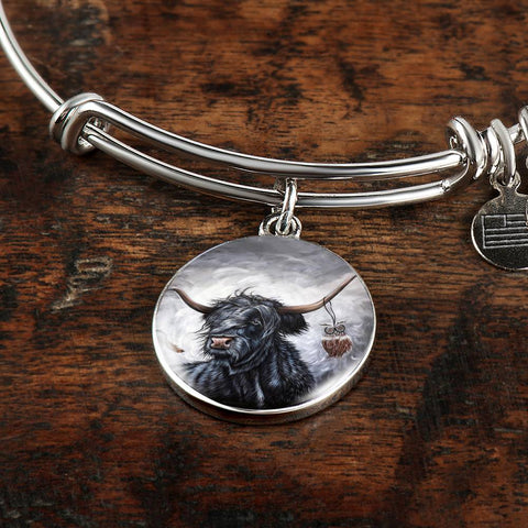 Cattle Highland Cow - Circle Shaped Bangle | Special Custom Design