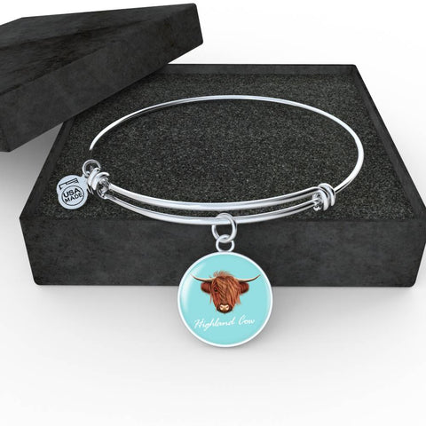 Highland Cow Head - Circle Shaped Bangle | Special Custom Design