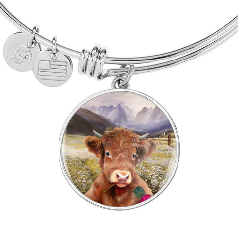 Lovely Highland Cattle - Circle Shaped Bangle | Special Custom Design