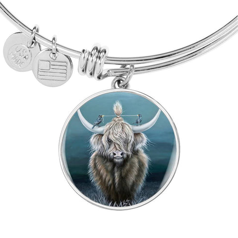 Cattle Highland Cow 02 - Circle Shaped Bangle | Special Custom Design