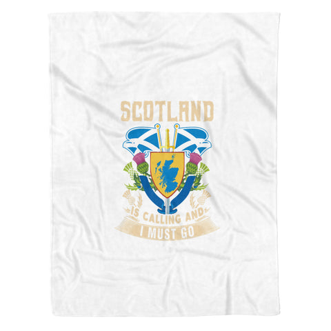 Image of Scotland Map Fleece Blanket