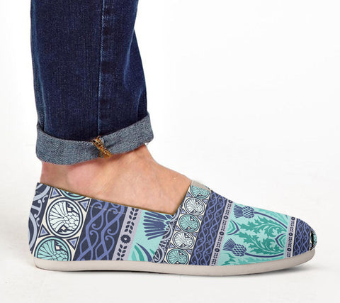 Thistle Vintage - Scotland Women's Casual Shoes | Special Custom Design