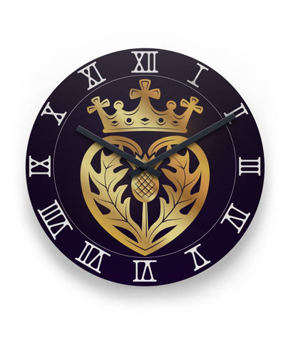 "Thistle Heart Luckenbooth 11"" Wall Clock 