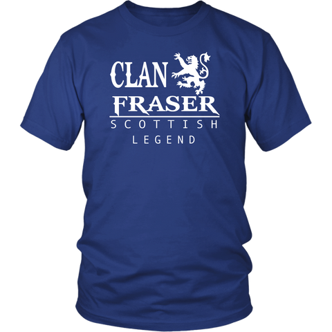 Clan Fraser Scottish Legend T-Shirts And Hoodies | Exclusive Over 300 Clans | Love Scotland