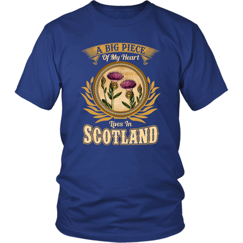 A Big Piece Of My Heart Scotland T-Shirts | HOT Sale