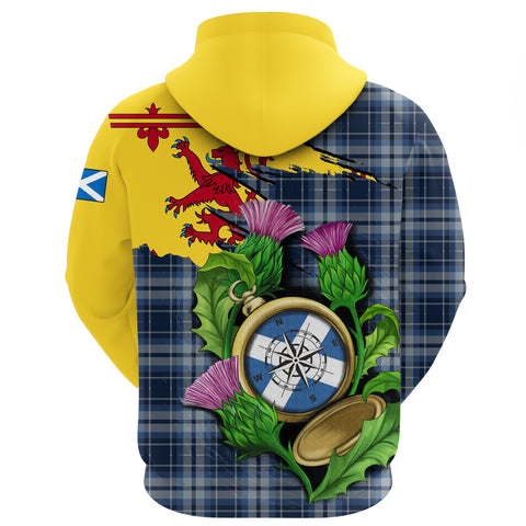 Image of 1stScotland Zip Hoodie - Tartan Scottish Thistle Compass A24