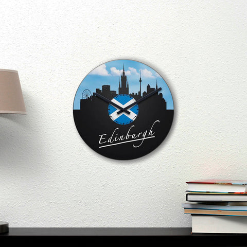 Scotland Wall Clock - From Edinburgh With Love | Special Custom Design