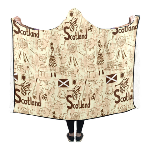 Image of Scotland Things - Hooded Blanket | Special Custom Design