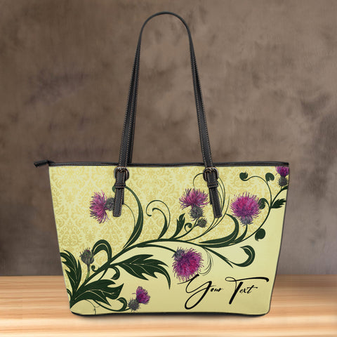 (Custom) Scotland Leather Tote Thistle Vintage Personal Signature A24