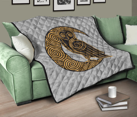 Scotland Premium Quilt - Celtic Moon Owl