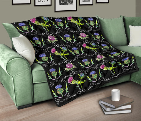 Image of Scottish Thistle 13th Pattern Premium Quilt