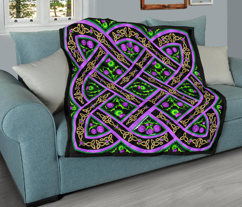 Scotland Premium Quilt - Beautiful Celtic Thistle