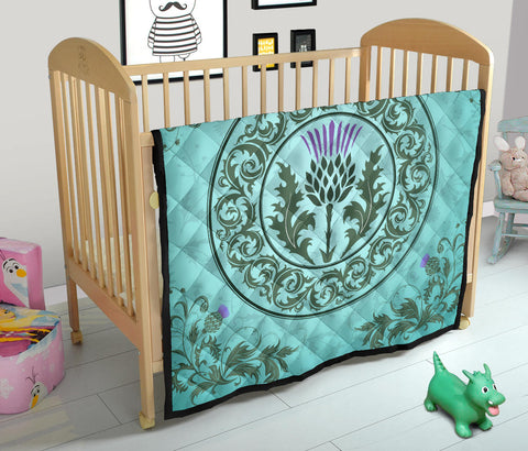 Image of Scotland Thistle Premium Quilt | Blanket | Home Decor