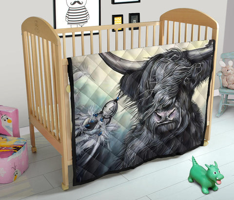 Image of Scotland Cow Premium Quilt