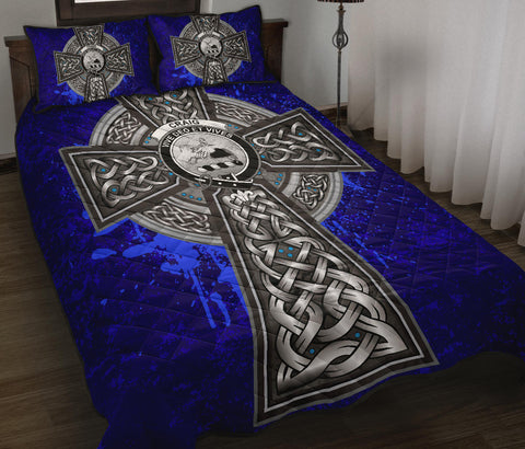 Craig Crest Scottish Celtic Cross Scotland Quilt Bed Set | Over 300 Clans | Home Set