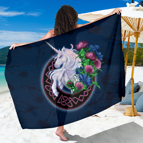 Scotland Sarong Unique - Unicorn Thistle And Moon Celtic