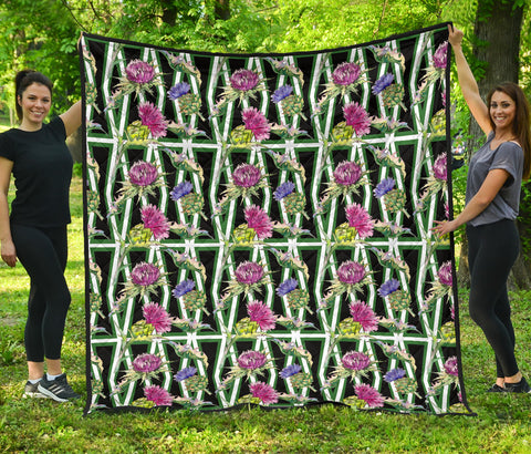 Scottish Thistle 11th Pattern Premium Quilt