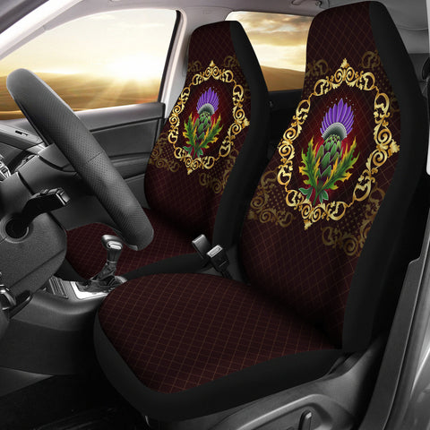Scotland Car Seat Covers - Thistle Special Gold | Love Scotland