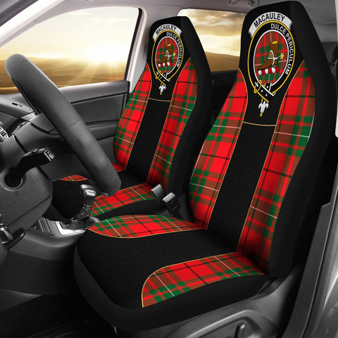 Image of Macauley Tartan Car Seat Cover Clan Badge - Special Version