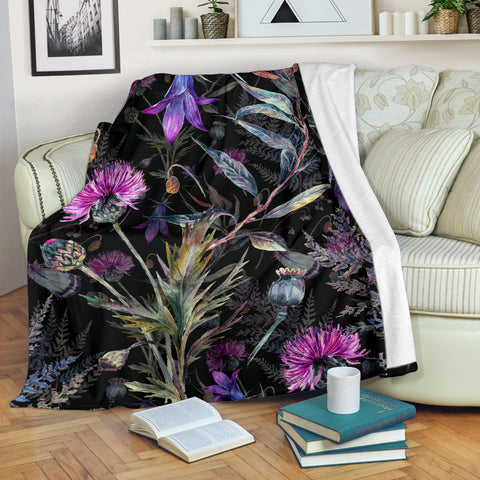 Dark Thistle Premium Blanket