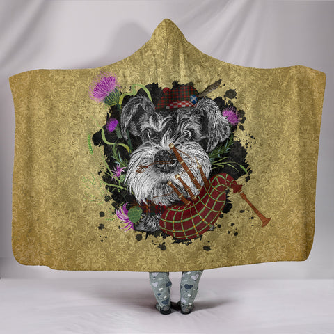 Scotland Hooded Blanket - Scottish Terrier And Thistle Vintage | Love The World