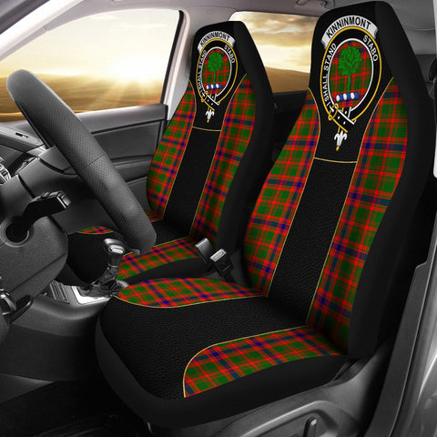 Image of Kinninmont Tartan Car Seat Cover Clan Badge - Special Version
