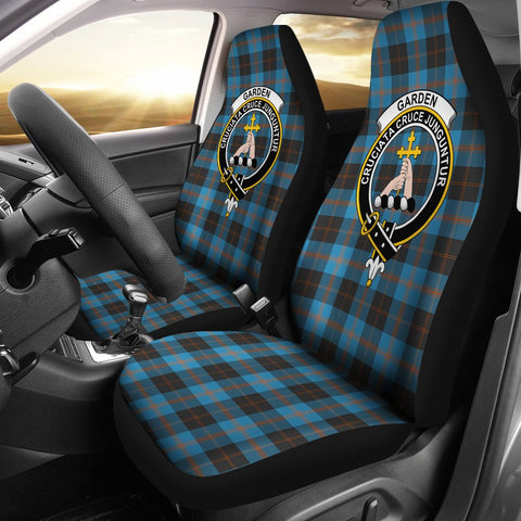 Image of Tartan Car Seat Cover, Garden Clan Badge Scottish Car Seat Cover A9