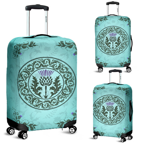 Image of Green Thistle - Luggage Covers | Special Custom Design