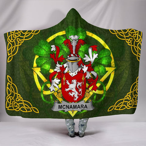 McNamara Ireland Hooded Blanket Celtic Shamrock | Over 1400 Crests | Clothing | Apparel