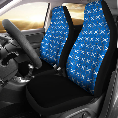 Scotland Flag And Chains Pattern Car Seat Cover