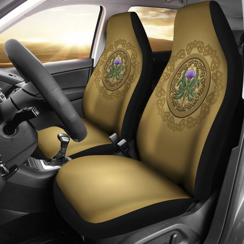 Image of Luxurious Thistle Scottish - Car Seat Covers | Special Custom Design