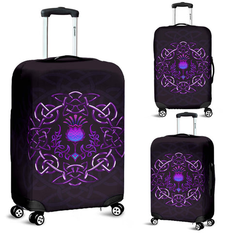 Scotland Luggage Covers - Purple Thistle Celtic | Love Scotland