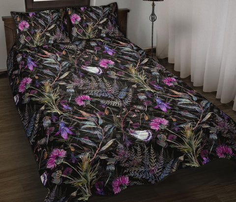 Image of Scotland Quilt Bed Set - Dark Thistle | Love Scotland