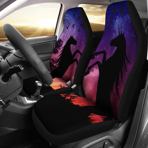 Unicorn Shadow Car Seat Covers (Set of 2) | Love Scotland