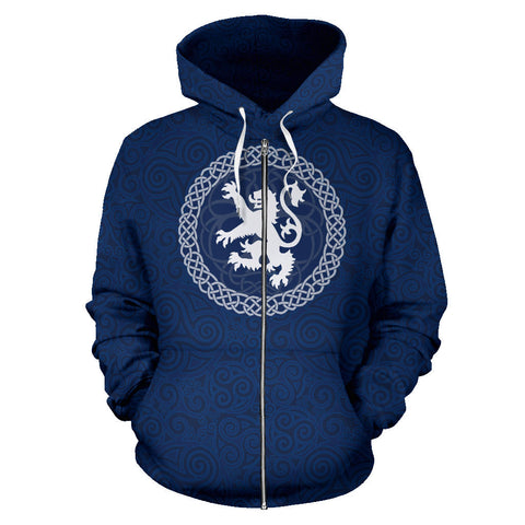 Custom - Celtic Lion Zip Hoodie | Clothing | Love Scotland