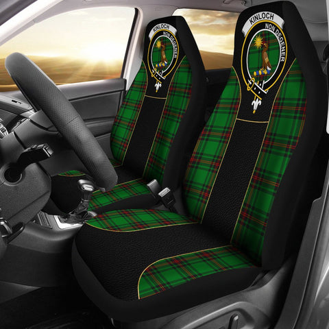 Image of Kinloch Tartan Car Seat Cover Clan Badge - Special Version