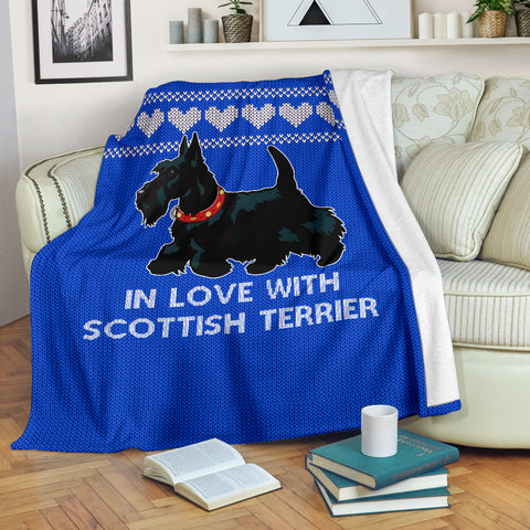 In Love With Scottish Terrier Premium Blanket | Love Scotland