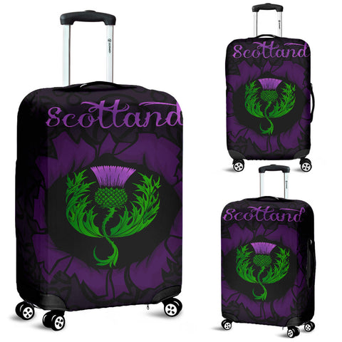 Scotland  Luggage Covers - Celtic Thistle Purple | Love Scotland