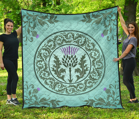 Scotland Thistle Premium Quilt | Blanket | Home Decor