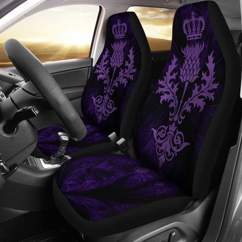 Scotland Luxury Thistle Car Seat Cover Violet Color