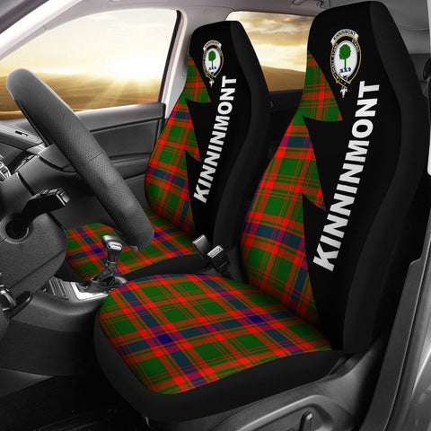 Kinninmont Clans Tartan Car Seat Covers - Flash Style