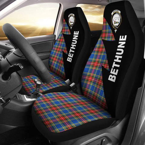 Bethune Clans Tartan Car Seat Covers - Flash Style