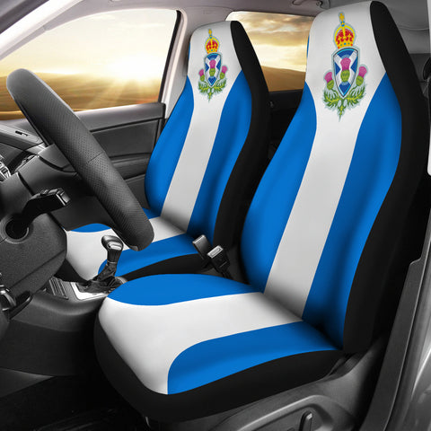 Image of Scotland Thistle Shield Car Seat Covers | Car Decor