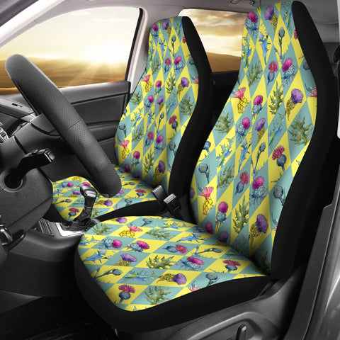 Scottish Thistle Pattern 1st Car Seat Covers