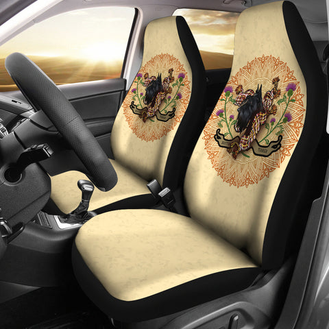 Scotland Car Seat Covers - Scottish Terrier Thistle | Love Scotland
