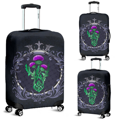 Scotland Luggage Covers Thistle Celtic  Royal Purple | Love Scotland