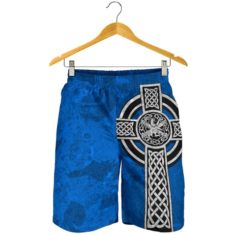 Image of Celtic Cross Lion - Scottish Blue AOP Men's Shorts | Love Scotland