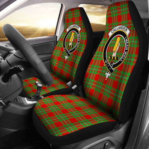 Image of Tartan Car Seat Cover, Callander Clan Badge Scottish Car Seat Cover A9