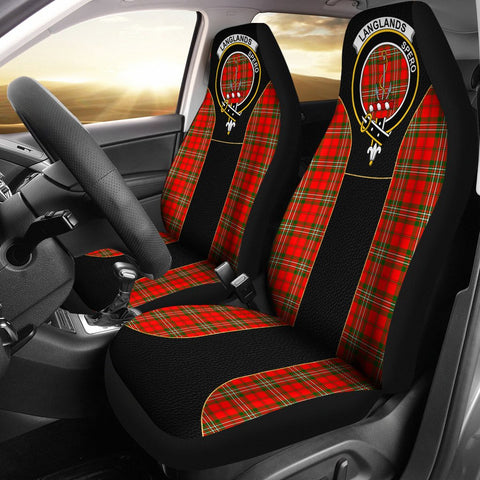 Langlands Tartan Car Seat Cover Clan Badge - Special Version