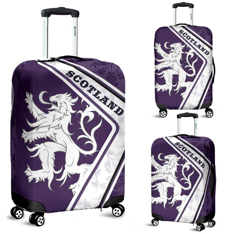 Scotland Luggage Covers - Lion Thistle Purple | Love Scotland
